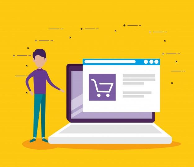 man laptop technology website market sale 24877 56045 - Crie páginas de produtos que vendem